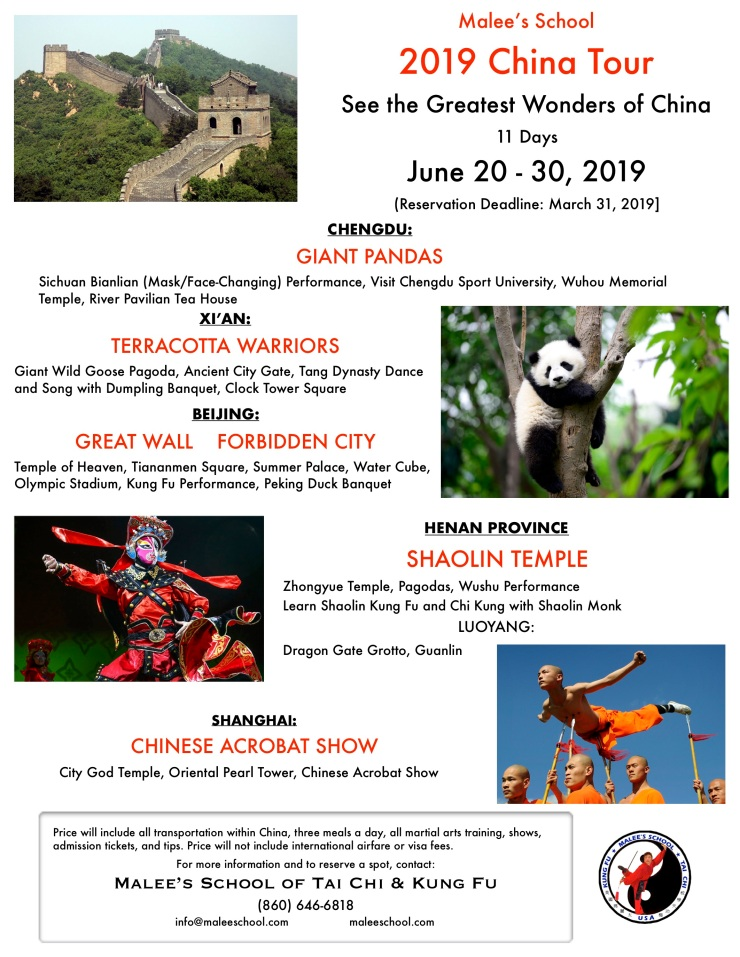 malee's school tour of china 2019